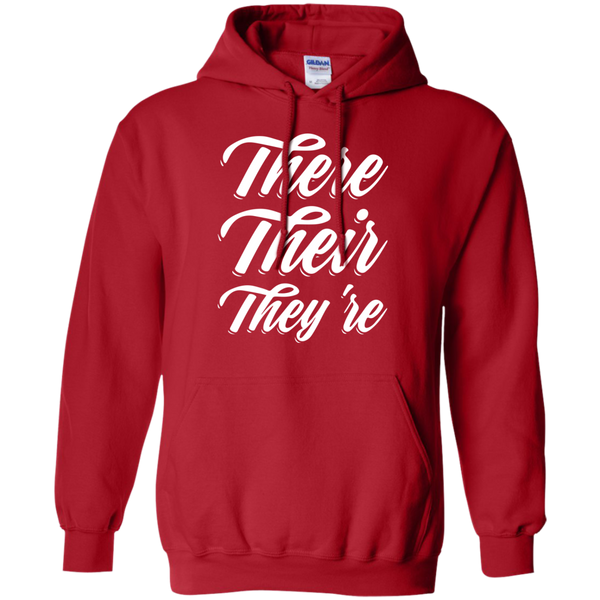 There Their They're Hoodie 8 oz - TeachersLoungeShop - 11