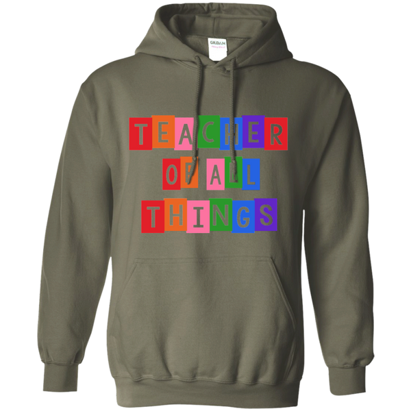 Teacher of all Things Pullover Hoodie 8 oz - TeachersLoungeShop - 10