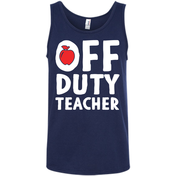 Off Duty Teacher  Ringspun Cotton Tank Top - TeachersLoungeShop - 6