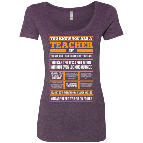 You know You are a Teacher if  Next  Level Ladies Triblend Scoop - TeachersLoungeShop - 3