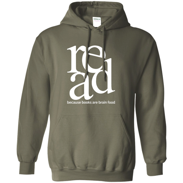 Read Because Books Are Brain Food Pullover Hoodie 8 oz - TeachersLoungeShop - 4