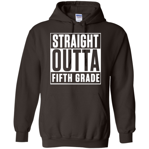 Straight Outta Fifth Grade  Hoodie 8 oz - TeachersLoungeShop - 6