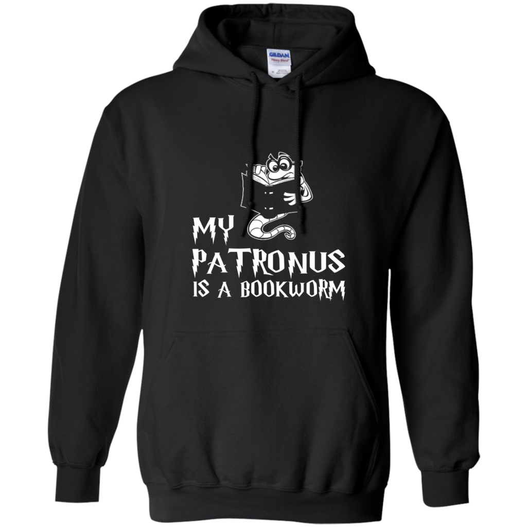 My Patronus is a Book Worm Pullover Hoodie 8 oz - TeachersLoungeShop - 1