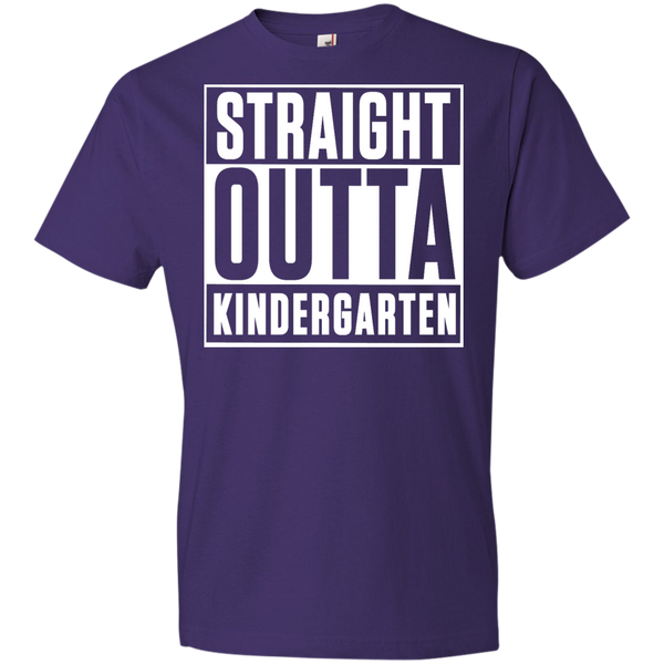 Straight outta Kindergarten   Anvil Youth Lightweight T-Shirt