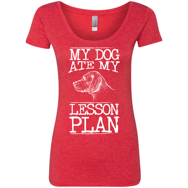 My Dog Ate my Lesson Plan Next Level Ladies Triblend Scoop - TeachersLoungeShop - 4