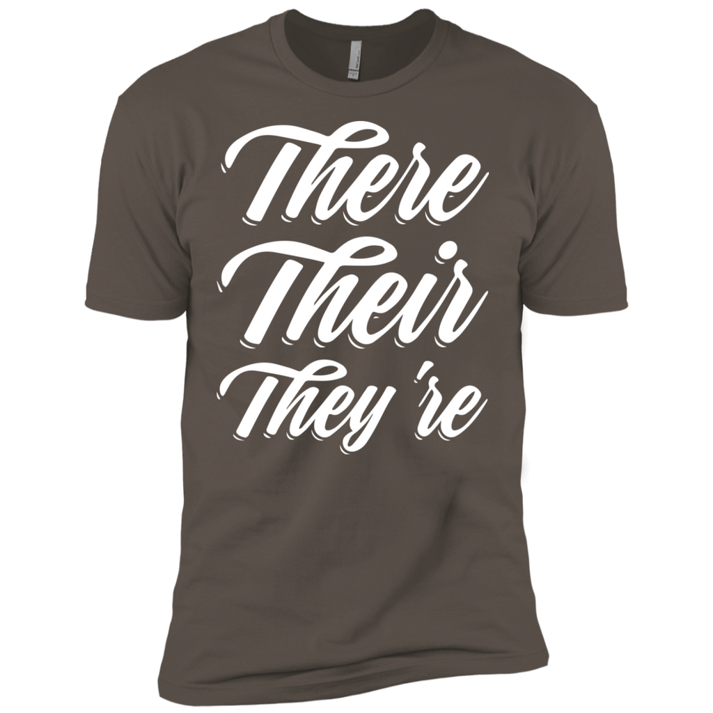 They Their They're  Next Level Premium Short Sleeve Tee - TeachersLoungeShop - 1
