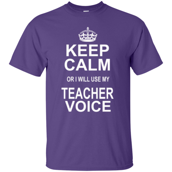 Keep Calm or i will use my Teacher Voice T-shirt Hoodie - TeachersLoungeShop - 3