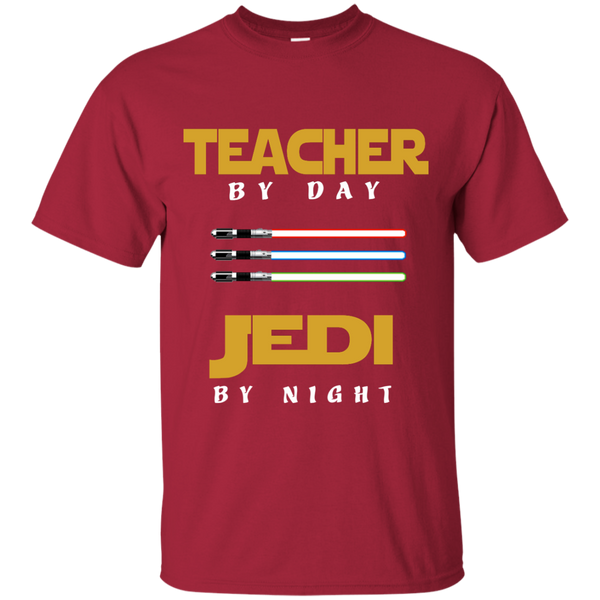 Teacher by Day Jedi by Night Cotton T-Shirt - TeachersLoungeShop - 5