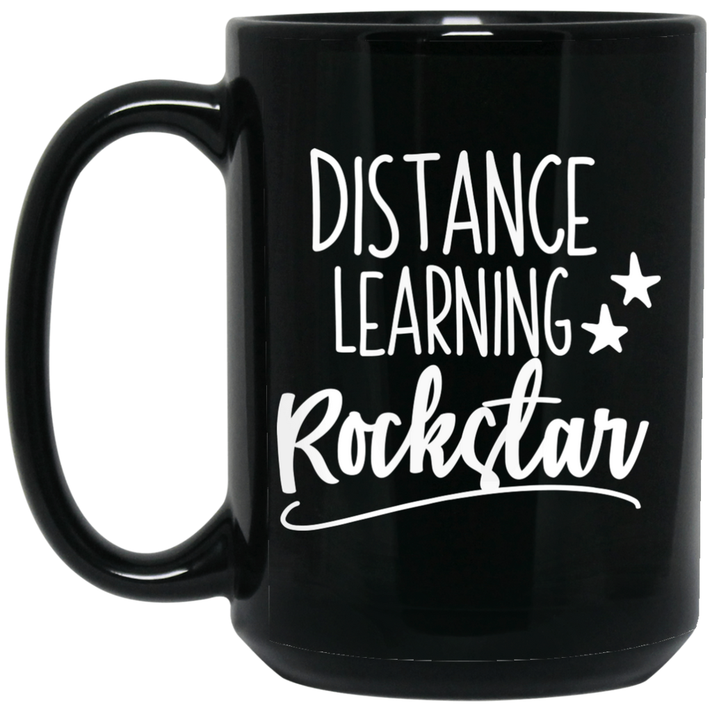 Distance Learning Rockstar  15 oz. Black Mug