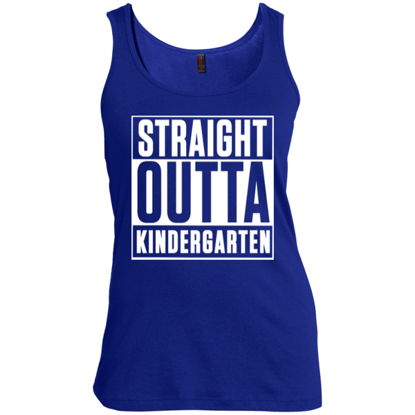 Straight Outta Kindergarten   Scoop Neck Tank Top - TeachersLoungeShop - 5