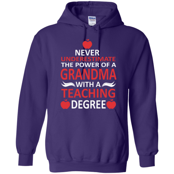 Never Underestimate the Power of a Grandma with a Teaching Degree T-shirt Hoodie - TeachersLoungeShop - 10
