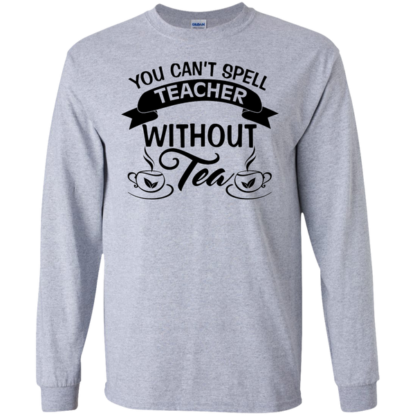 You Can't Spell Teacher without Tea    Ultra Cotton Tshirt - TeachersLoungeShop - 2