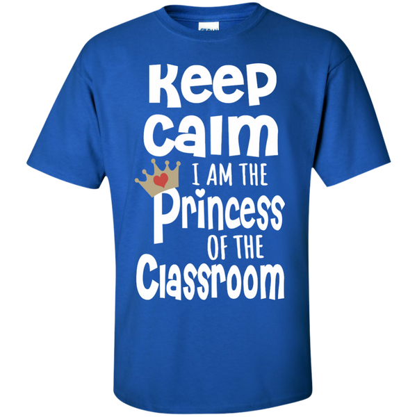 Keep Calm I am the Princess of the Classroom Cotton T-Shirt - TeachersLoungeShop - 9