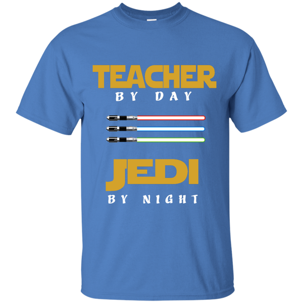 Teacher by Day Jedi by Night Cotton T-Shirt - TeachersLoungeShop - 6