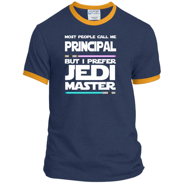 Most People Call Me Principal But I Prefer Jedi Master Ringer Tee - TeachersLoungeShop - 1
