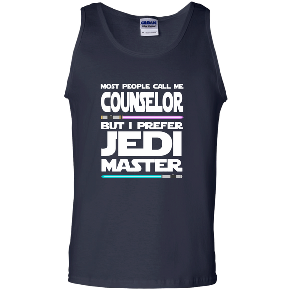 Most People Call Me Counselor But I Prefer Jedi Master 100% Cotton Tank Top - TeachersLoungeShop - 2