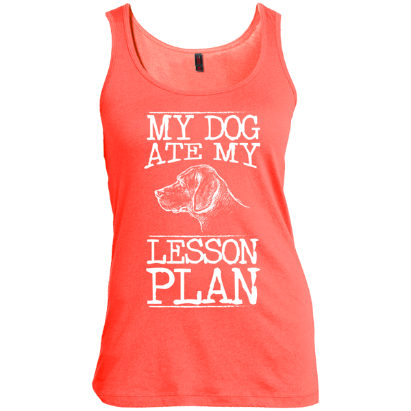 My Dog Ate my Lesson Plan   Scoop Neck Tank Top - TeachersLoungeShop - 4