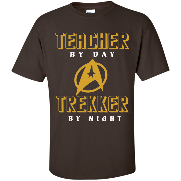 Teacher By Day Trekker By Night Cotton T-Shirt - TeachersLoungeShop - 3