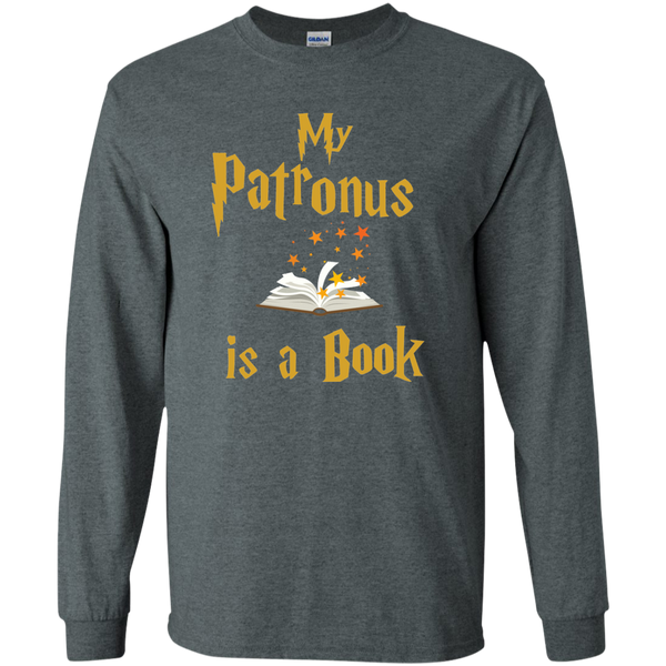 My Patronus is a Book LS Ultra Cotton Tshirt - TeachersLoungeShop - 6