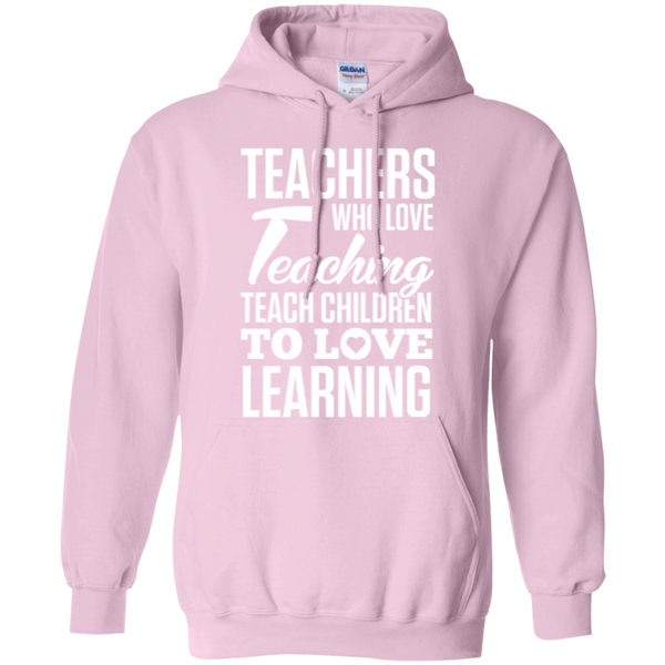 Teachers who love teaching  Hoodie 8 oz - TeachersLoungeShop - 7