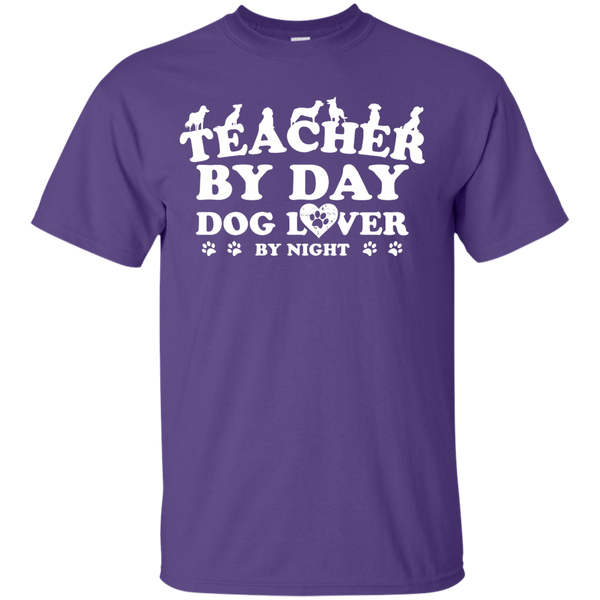 Teacher By Day Dog Lover by Night T-Shirt - TeachersLoungeShop - 7