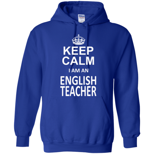 Keep Calm i'm an English Teacher T-shirt Hoodie - TeachersLoungeShop - 11