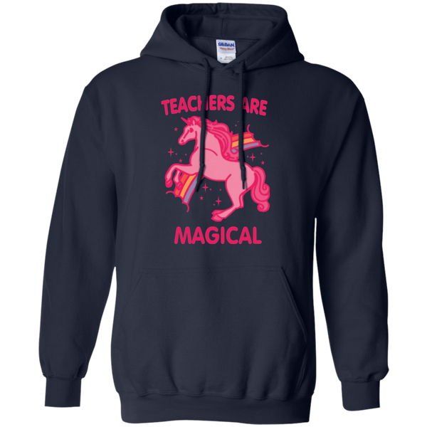 Teachers are Magical Pullover Hoodie 8 oz - TeachersLoungeShop - 4