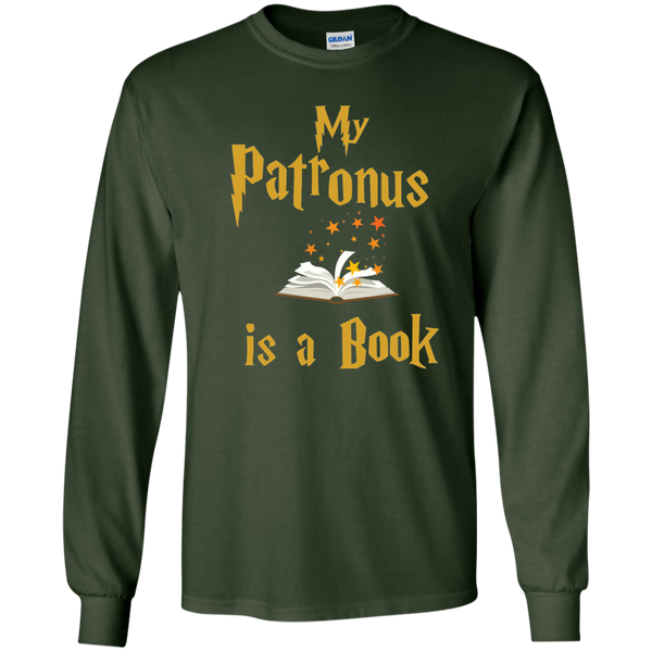 My Patronus is a Book LS Ultra Cotton Tshirt - TeachersLoungeShop - 2