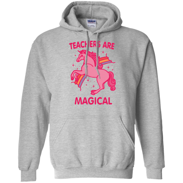 Teachers are Magical Pullover Hoodie 8 oz - TeachersLoungeShop - 2
