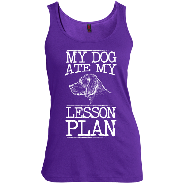 My Dog Ate my Lesson Plan   Scoop Neck Tank Top - TeachersLoungeShop - 1