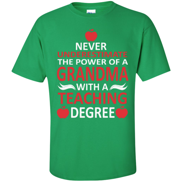 Never Underestimate the Power of a Grandma with a Teaching Degree T-shirt Hoodie - TeachersLoungeShop - 4