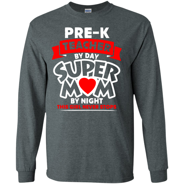 Pre-k  Teacher by Day Super Mom By Night  Ultra Cotton Tshirt - TeachersLoungeShop - 6