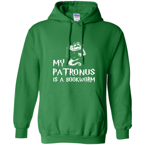 My Patronus is a Book Worm Pullover Hoodie 8 oz - TeachersLoungeShop - 11
