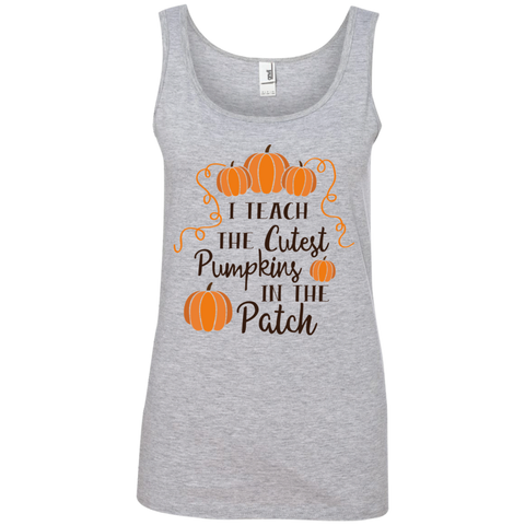 I Teach the cutest pumpkins in the patch    Ringspun Cotton Tank Top
