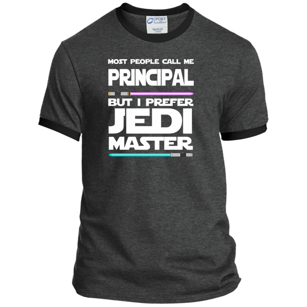 Most People Call Me Principal But I Prefer Jedi Master Ringer Tee - TeachersLoungeShop - 3