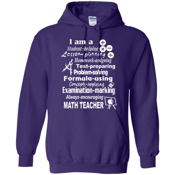 I am a Math Teacher Limited Edition T-shirt Hoodie - TeachersLoungeShop - 9