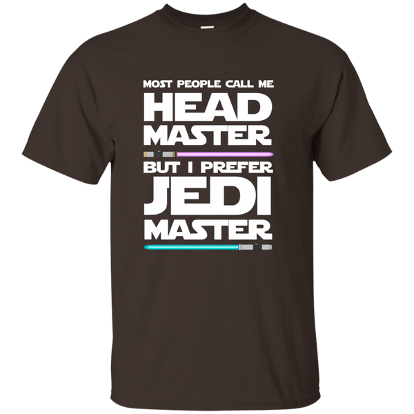 Most People Call Me Head Master But I Prefer Jedi Master Cotton T-Shirt - TeachersLoungeShop - 3