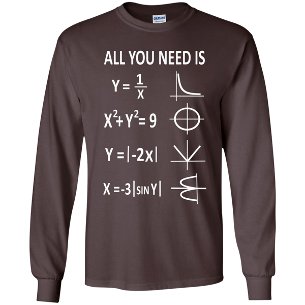 All You Need is Love LS Ultra Cotton Tshirt - TeachersLoungeShop - 3