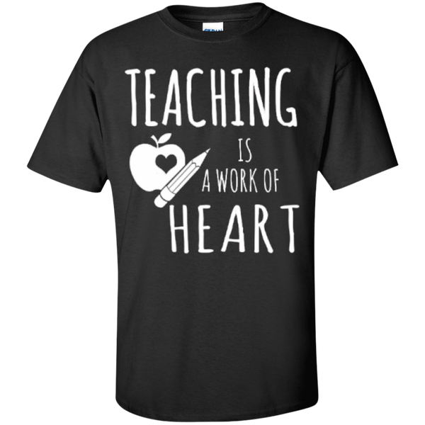 Teaching is a Work of Heart Teacher T-shirt Hoodie - TeachersLoungeShop - 1