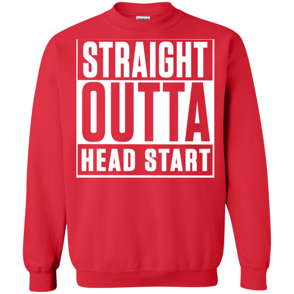 Straight Outta Head Start  Crewneck Pullover Sweatshirt  8 oz - TeachersLoungeShop - 4