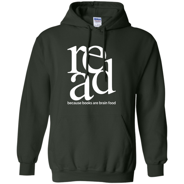 Read Because Books Are Brain Food Pullover Hoodie 8 oz - TeachersLoungeShop - 6