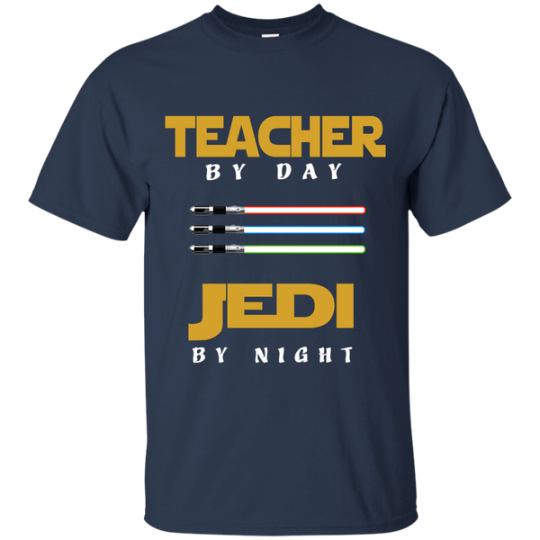 Teacher by Day Jedi by Night Cotton T-Shirt - TeachersLoungeShop - 10