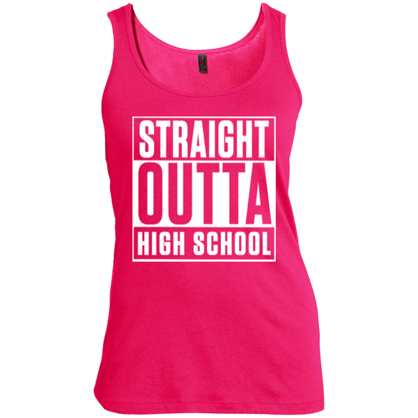 Straight Outta High School Women's Scoop Neck Tank Top - TeachersLoungeShop - 3