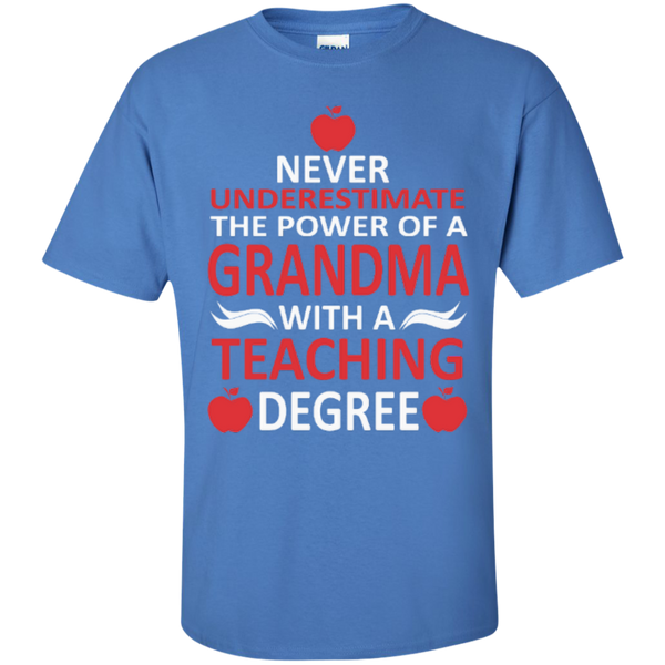 Never Underestimate the Power of a Grandma with a Teaching Degree T-shirt Hoodie - TeachersLoungeShop - 5