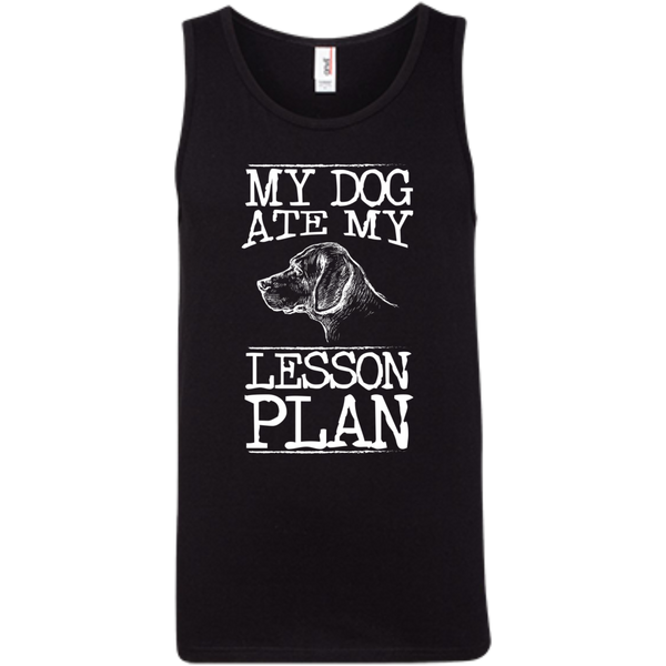 My Dog Ate my Lesson Plan  100% Ringspun Cotton Tank Top - TeachersLoungeShop - 1