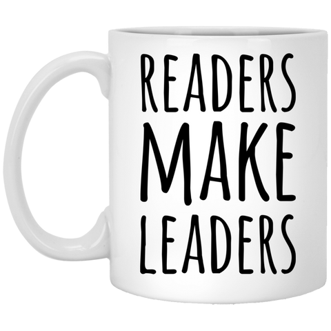 Readers make Leaders    11 oz. White Mug