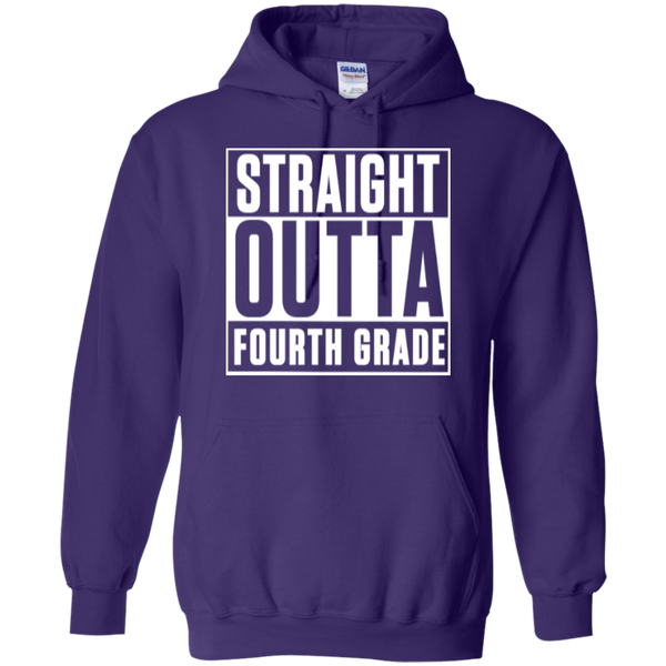Straight Outta Fourth Grade   Hoodie 8 oz - TeachersLoungeShop - 10