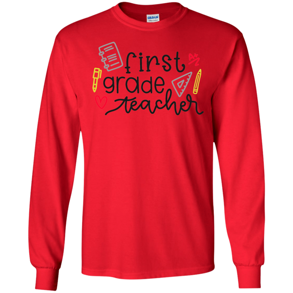 First Grade Teacher LS Tshirt