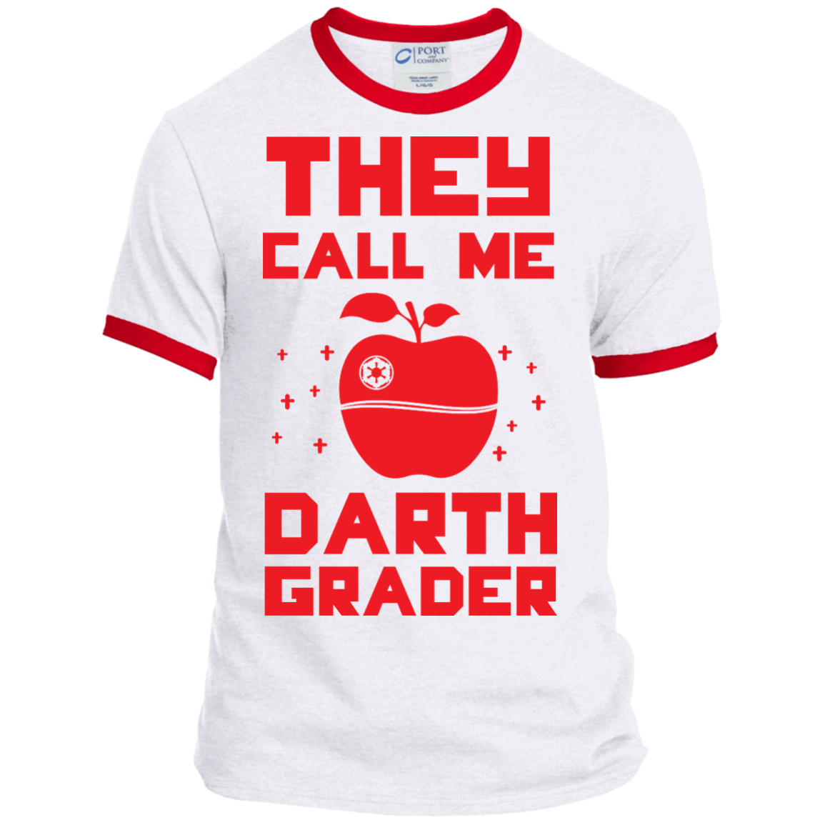 They call me Darth Grader   Ringer Tee - TeachersLoungeShop - 1