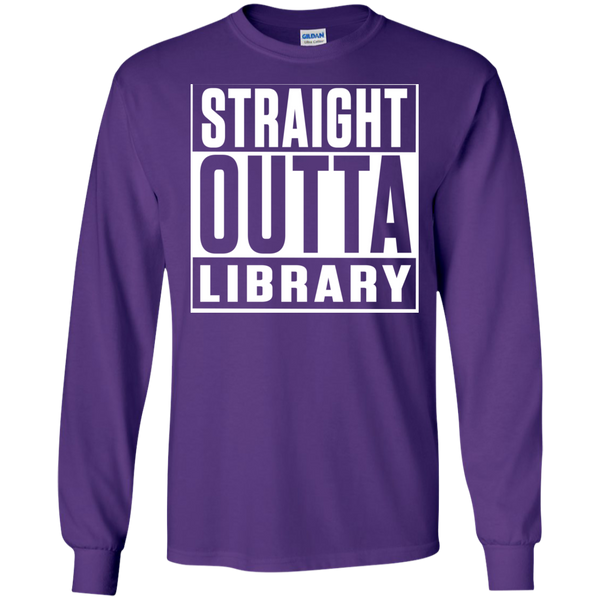 Straight Outta Library  LS Ultra Cotton Tshirt - TeachersLoungeShop - 10